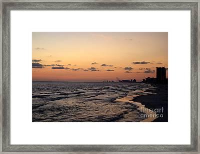 Shores Of Panama City Beach Framed Print by Laurel Schwarz