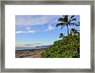 Framed Print featuring the photograph Shores Of Paradise by Gina Savage