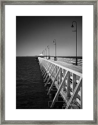 Shorncliffe Pier In Monochrome Framed Print