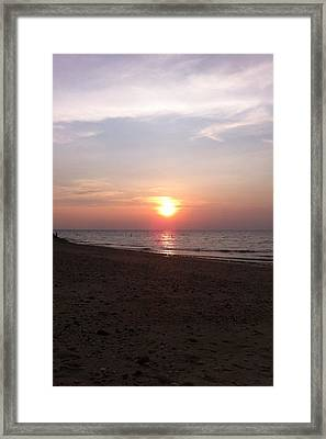 Short Beach  Long Island Framed Print by Julia Gatti