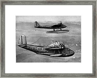 Short Mayo Composite Aircraft Framed Print by Cci Archives