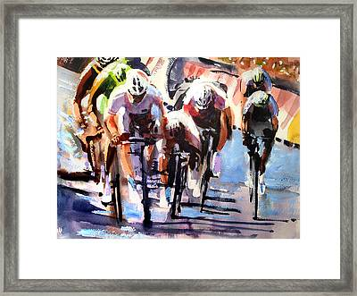 Short Sharp Sprint Framed Print