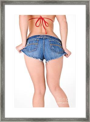 Short Shorts Framed Print