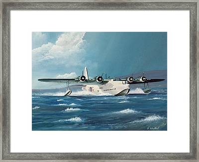 Short Sunderland Framed Print by Richard Wheatland