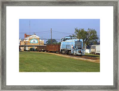 Short Train In A Small Town Framed Print