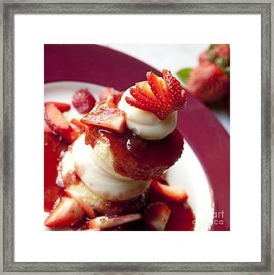 Shortcake Framed Print by New  Orleans Food
