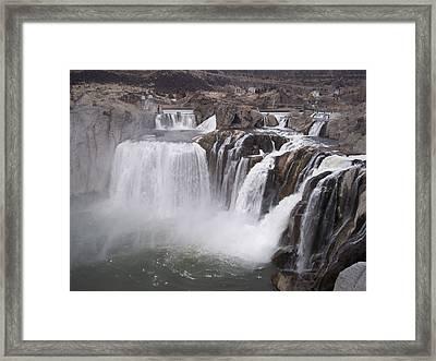 Shoshone Falls Framed Print by Angela Stout