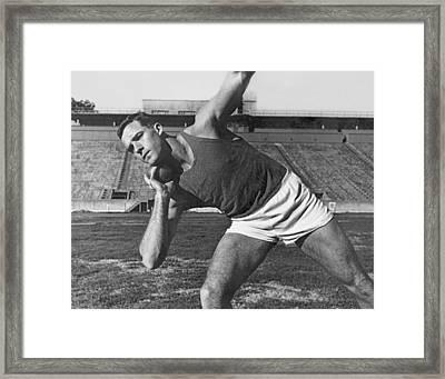 Shot Putter Parry O'brien Framed Print