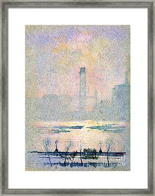 Shot Tower From Embankment 1880 Framed Print by Padre Art