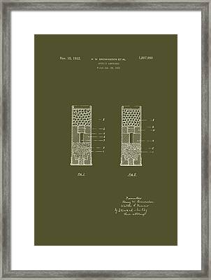 Shotgun Cartridge Patent Framed Print