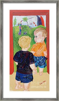 Should We Go In Framed Print by Lisa Kramer