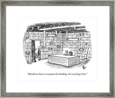 Should We Have To Evacuate The Building Framed Print by Frank Cotham