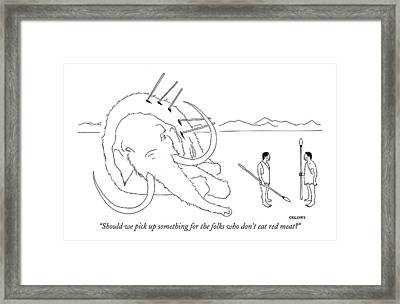 Should We Pick Up Something For The Folks Who Framed Print by Alex Gregory
