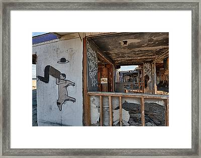 Should We Remodel Graffiti  Framed Print by Scott Campbell