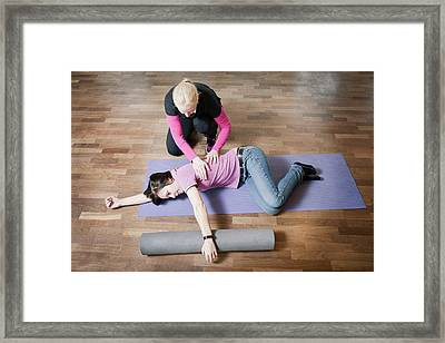 Shoulder And Back Physiotherapy Framed Print