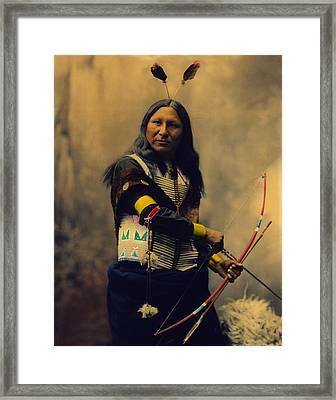 Shout At Oglala Sioux  Framed Print