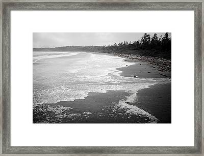 Winter At Wickaninnish Beach Framed Print by Roxy Hurtubise
