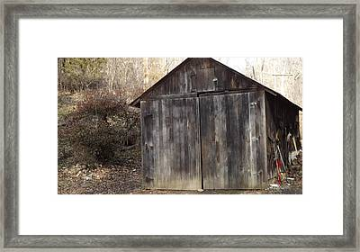 Shovel Garage Framed Print by Don Koester