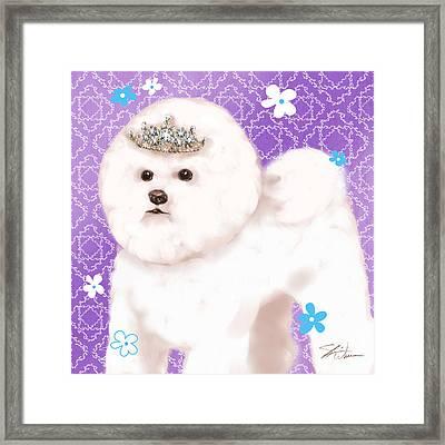 Show Dog Bichon Frise Framed Print