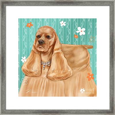Show Dog Cocker Spaniel Framed Print by Shari Warren