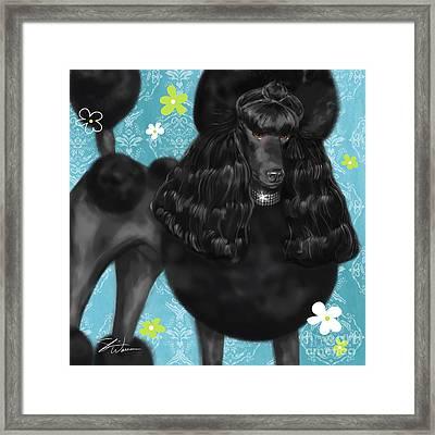 Show Dog Poodle Framed Print by Shari Warren