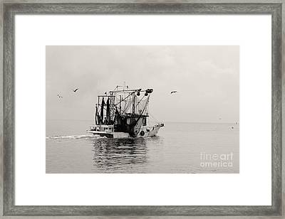 Show Down Framed Print by Russell Christie