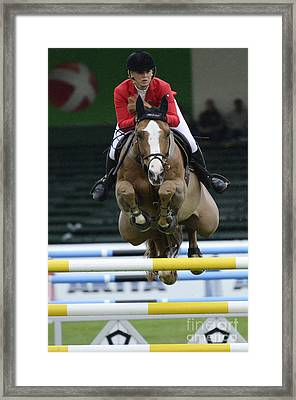 Show Jumping 2 Framed Print by Bob Christopher