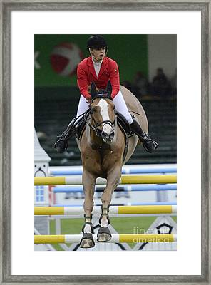 Horse Show Jumping 3 Framed Print
