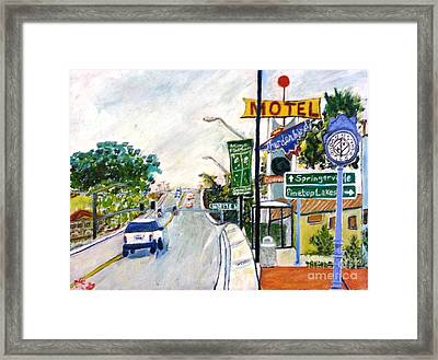 Framed Print featuring the painting Show Low Arizona  by Leslie Byrne
