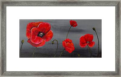 Show Off Poppies Framed Print