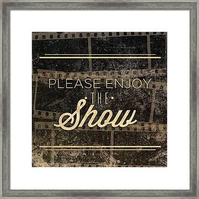 Show Framed Print