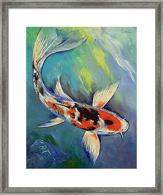 Showa Butterfly Koi Framed Print by Michael Creese