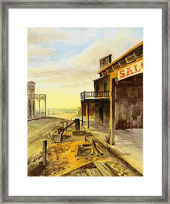 Showdown At Sundown Framed Print