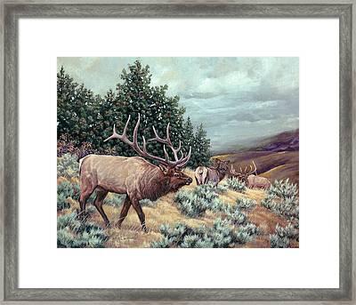 Framed Print featuring the painting Showdown by Craig T Burgwardt