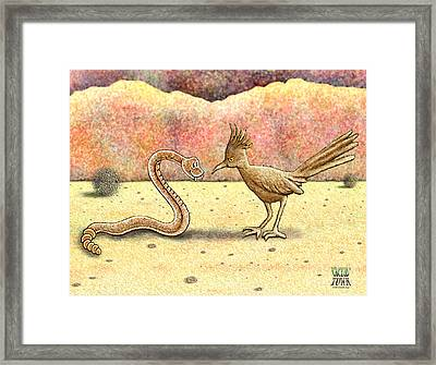 Framed Print featuring the digital art Showdown by Cristophers Dream Artistry