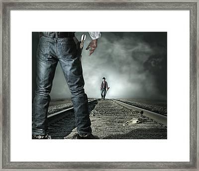 Showdown Framed Print by Krasimir Tolev