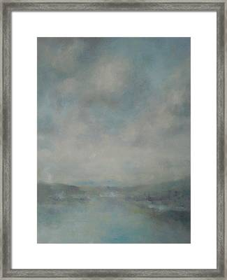 Shower Clouds Over The River Medina Framed Print by Alan Daysh