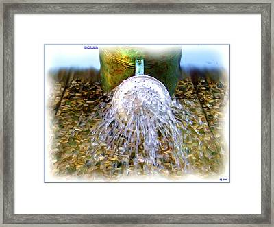 Shower Framed Print by Daniel Janda