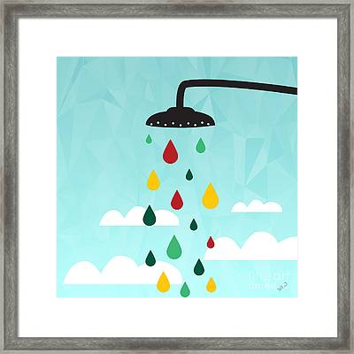 Shower  Framed Print