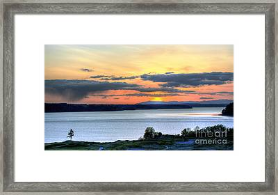 Framed Print featuring the photograph Showers Over Mcneil Island - Chambers Bay Golf Course by Chris Anderson