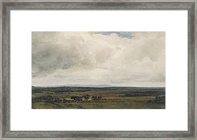 Showery Day, Glastonbury Tor Framed Print by Frederick Nash