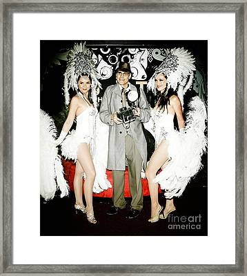 Showgirls And Photographer With Polaroid Framed Print by Nina Prommer