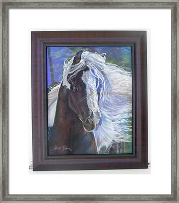 showing frame on Pearlie King Framed Print