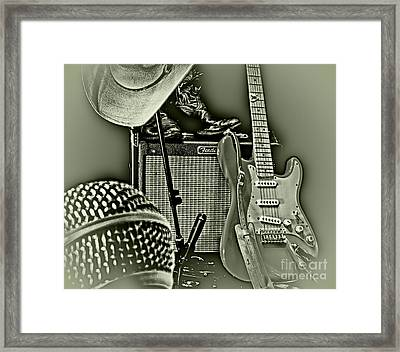 Show's Over - B W Framed Print by Robert Frederick