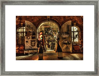Showtime Retro Looking In Framed Print