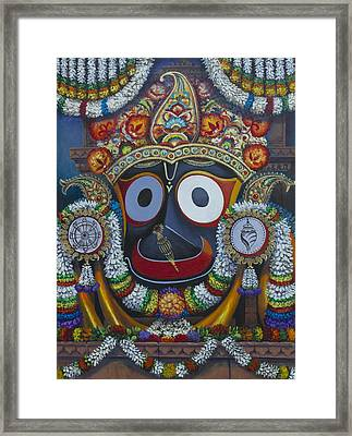 Shree Jagannath Framed Print by Vrindavan Das