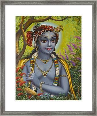 Shree Krishna Framed Print