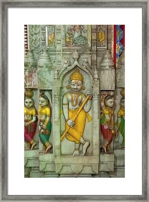 Shree Laxmi Narihan Ji Hindu Temple Framed Print by Inger Hogstrom