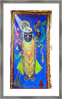Shreenathji Framed Print by M Bhatt