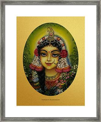 Shrimati Radharani Framed Print by Vrindavan Das